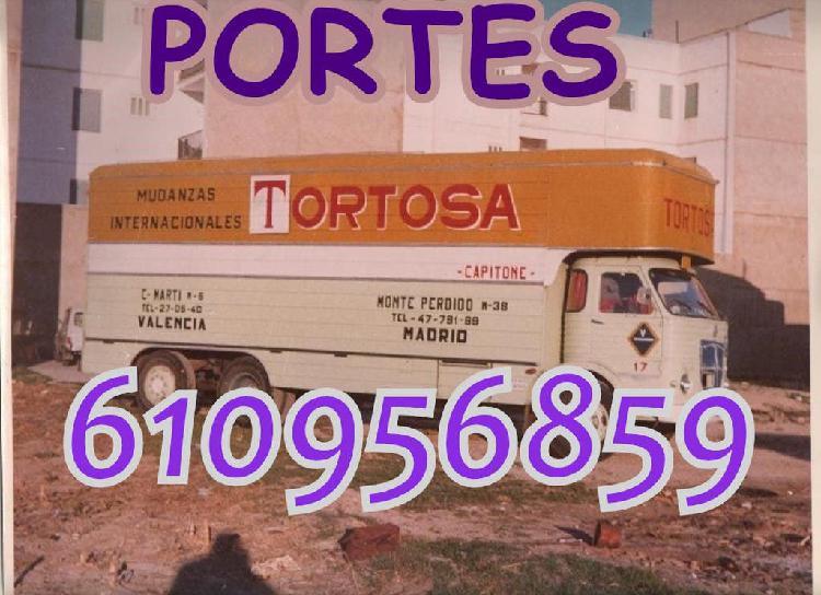 Portes, transportes y mudanzas low cost de