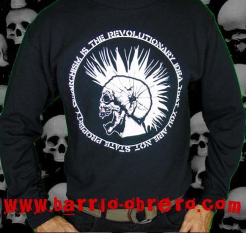 Sudaderas punk - anarchism is the revolutionary idea...