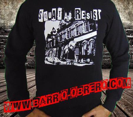 Sudaderas squat and resist - okupa y resiste