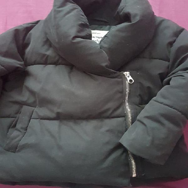 Abrigo negro zara niña talla 6