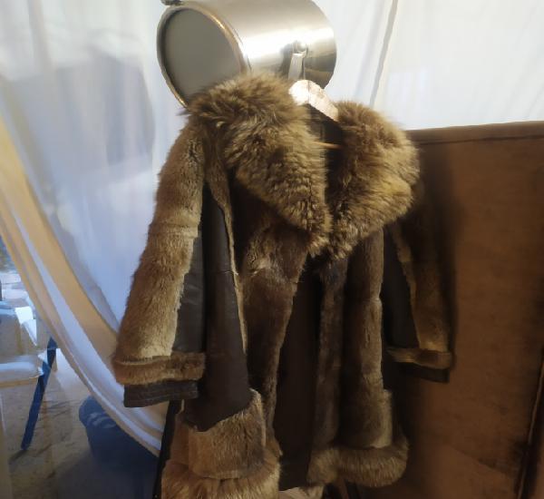 Abrigo piel cuero zorro para reparar
