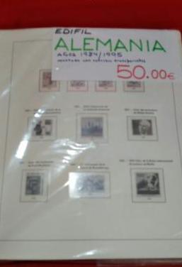 Alemania hojas sellos 1984 a 1995
