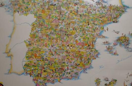 Cartel Turístico de España