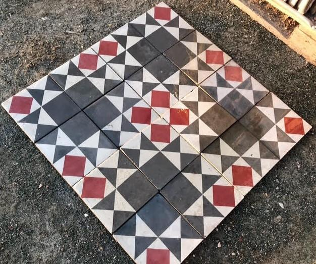 Hydraulikmosaik 35,4 m2 - hydraulic mosaic 35.4 m2