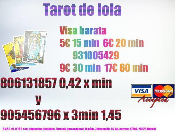 Tarot muy economico 5€ x 15 min 931005429 o 905456796 x3