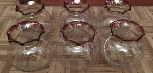 6 tulipas cristal para lámpara