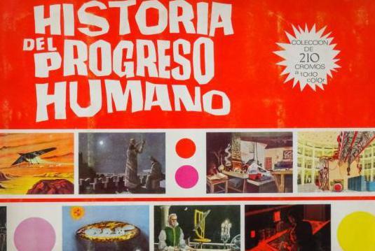Albumes de cromos Historia del Progreso Humano