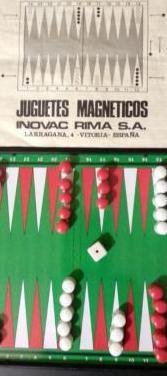 Backgammon / color seis