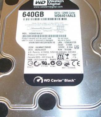 Disco duro 640gb black