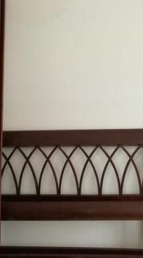 Estructura cama individual estilo inglés