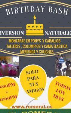 Fiestas de cumpleaños con caballos