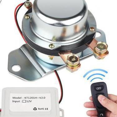 Interruptor batería con control remoto 12v