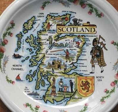 Plato porcelana banquet,escocia