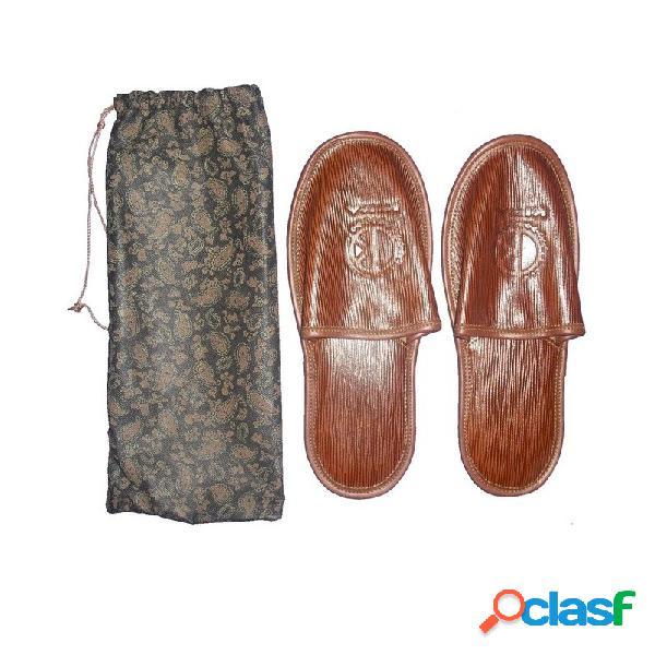 Zapatillas piel caballero