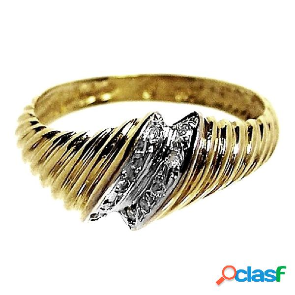 Sortija oro 18k brillante diamante 0,04ct