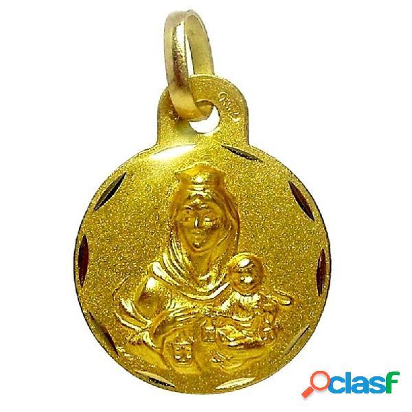 Medalla oro 18k escapulario virgen del carmen corazón de jesús