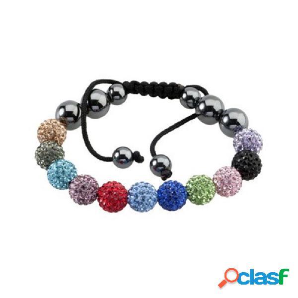 Pulsera fantasy bola cristal multicolor