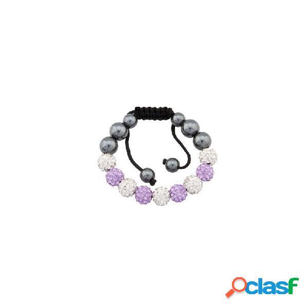 Pulsera fantasy bola cristal y violeta