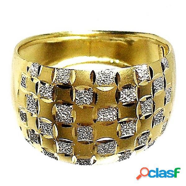 Sortija oro 18k diamantada bicolor