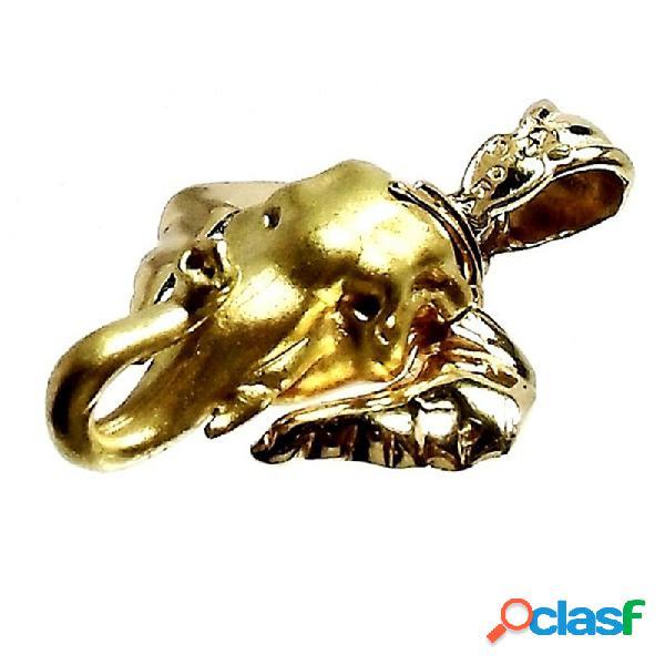 Colgante oro 18k cabeza elefante