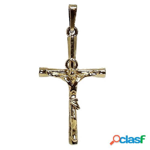Cruz crucifijo con cristo plata ley 925m 925m chapada