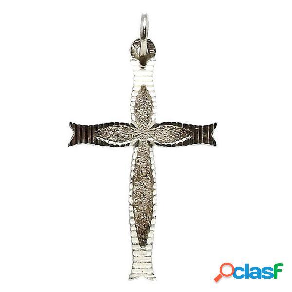 Cruz crucifijo plata ley 925m labrado