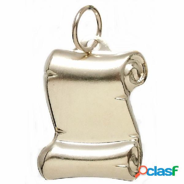 Colgante gold filled pergamino 19 liso chapa estampada