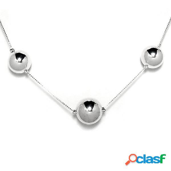 Collar plata ley 925m 11 bolas 8 a 16mm. diámetro