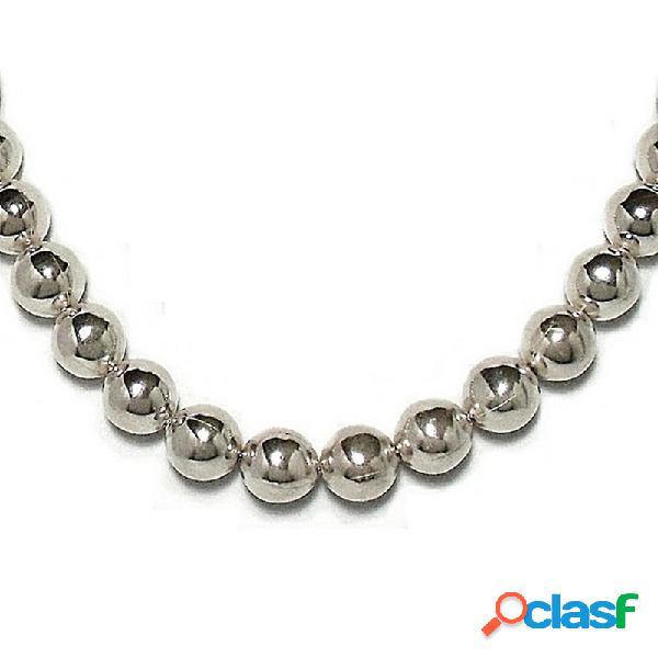 Gargantilla collar plata ley 925um bola 12 45cm.