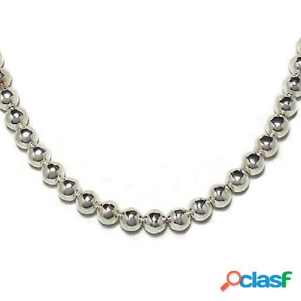 Gargantilla collar plata ley 925um bola 8 42cm.