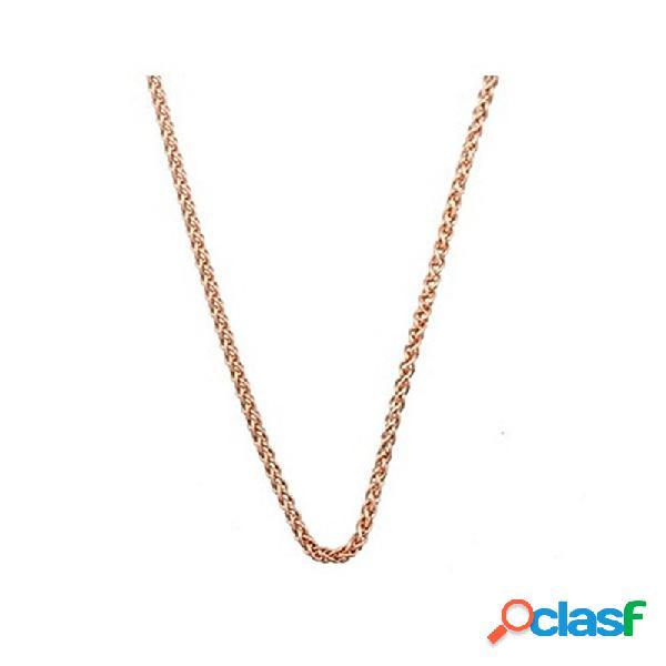 Cadena plata rosa ley 925m 45cm. espiga 1,5mm. cordón