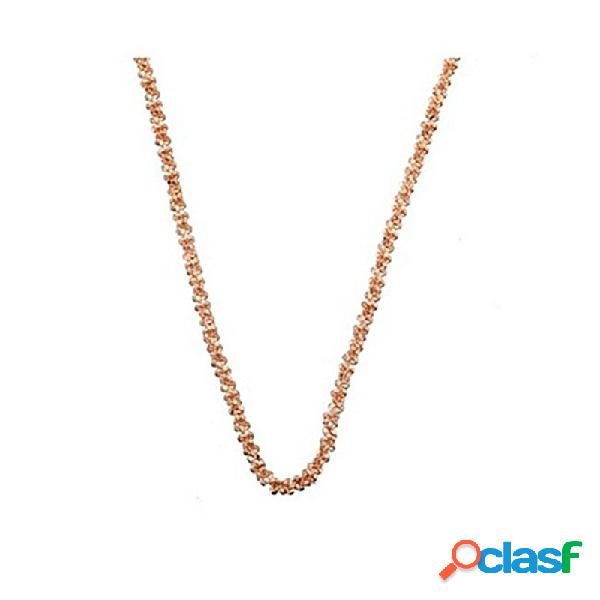 Cadena plata rosa ley 925m 50cm. margarita