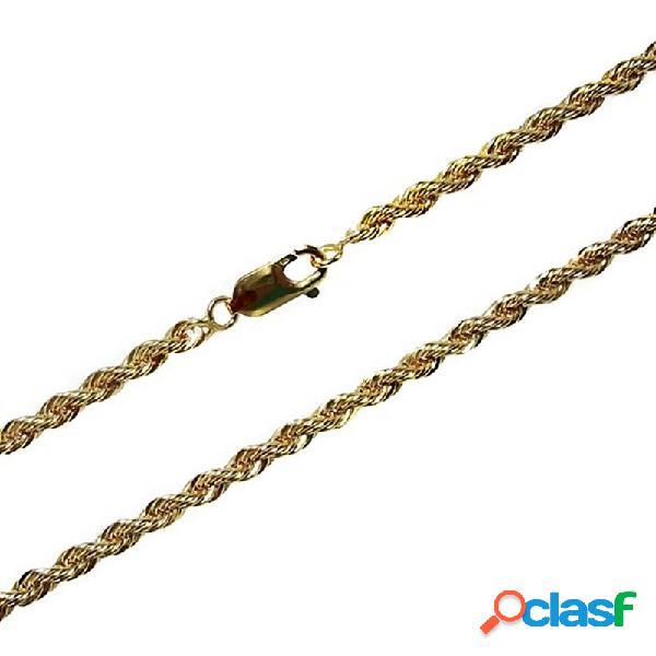 Cordón cadena gold filled 14k/20 45cm. 4mm. salomónico