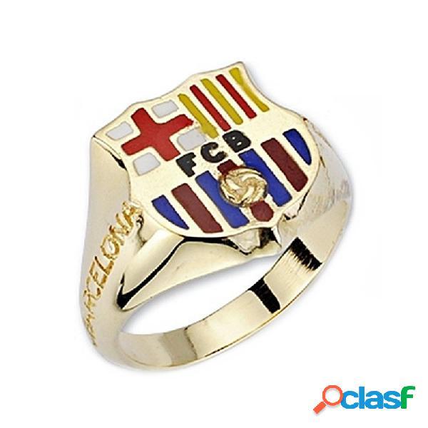 Sello escudo f.c. barcelona oro de ley 18k caballero silueta