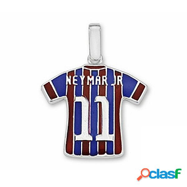 Camiseta escudo f.c. barcelona plata de ley neymar jr n11