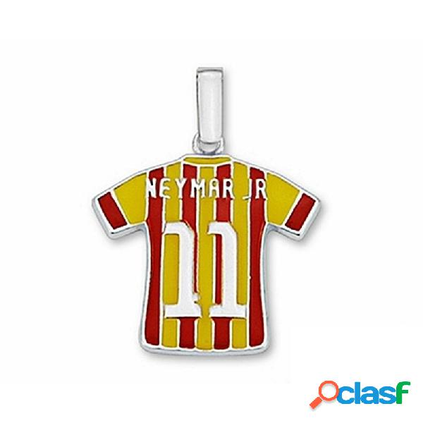 Camiseta f.c. barcelona plata de ley neymar jr n11 equipo 2