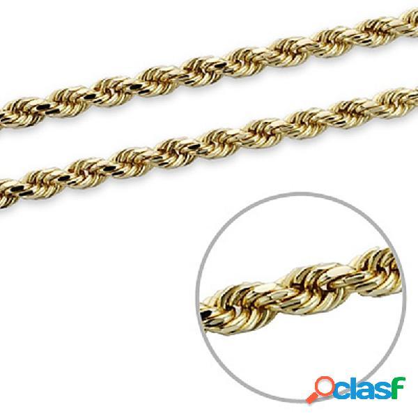 Cordón oro 18k salomónico macizo 60cm. 3mm. 28gr.