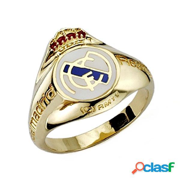 Sello escudo real madrid oro de ley 9k caballero silueta