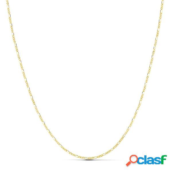 Cadena oro 18k maciza 50 cm. eslabón 3x1 ancho 1 mm. 1.90 grs.
