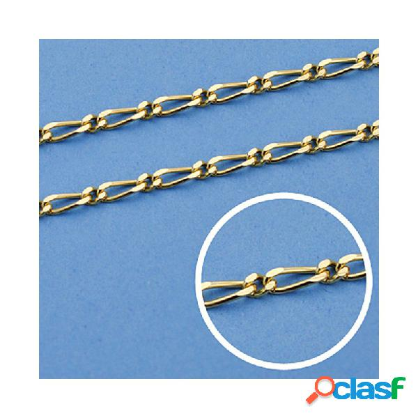 Cadena oro 18k maciza 50cm. eslabón 1x1 ancho 2 mm. 6.00 grs.