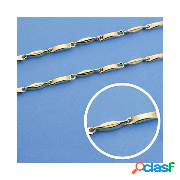 Cadena oro 18k tramos hueca 60 cm. 2,5 mm. 11.60 gr