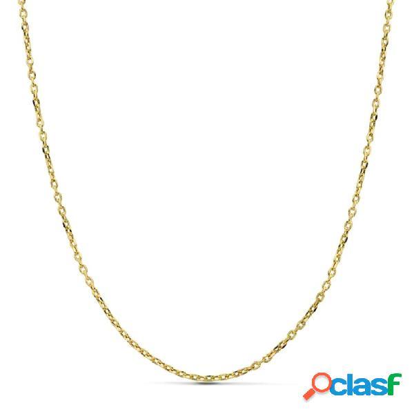Cadena oro 18k forzada 60 cm hueca 1,50 mm. 2,95 gr