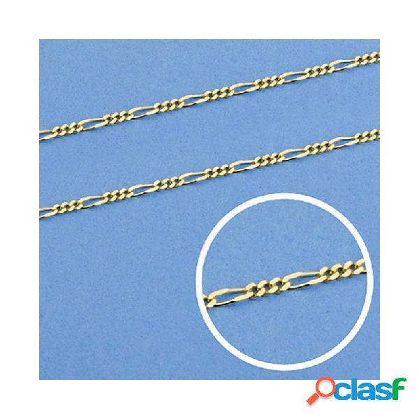 Cadena oro 18k maciza 50cm. eslabón 3x1 ancho 1 mm. 1.90 grs.