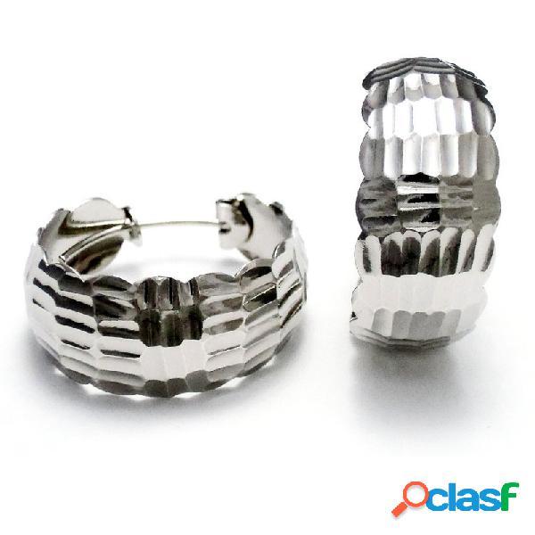 Pendientes aros plata 925m 27mm. labrado tallado