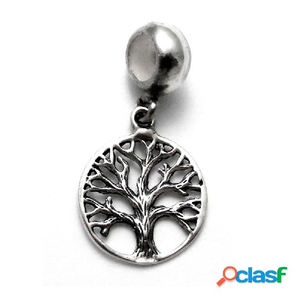 Fetiche charm colgante plata ley 925m árbol vida oxidado