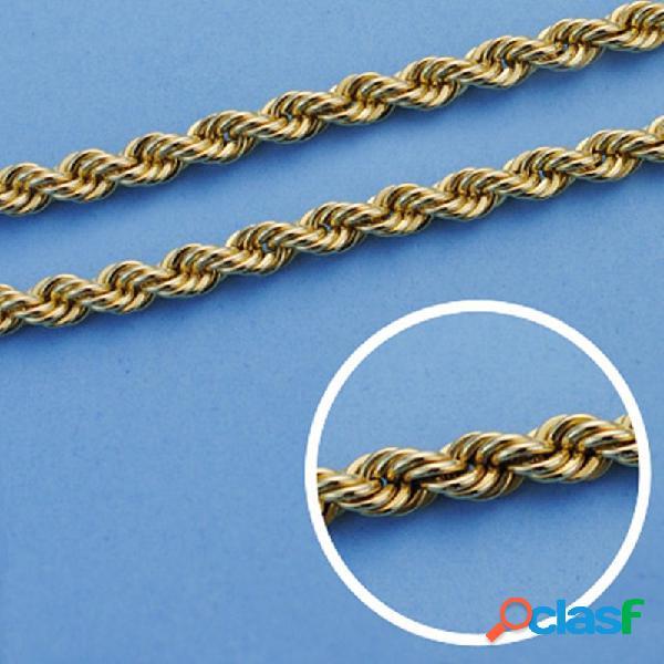 Cordón cadena oro 18k salomónico 45cm. ligero 4.5mm.