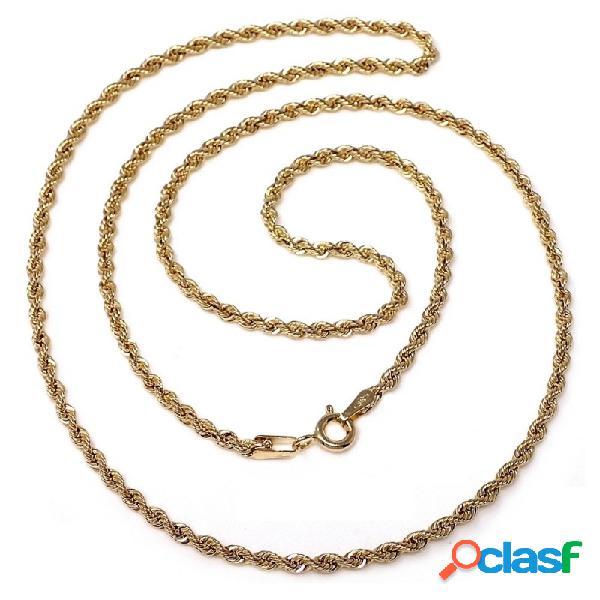 Cordón cadena oro 18k salomónico 45cm. normal 2mm.