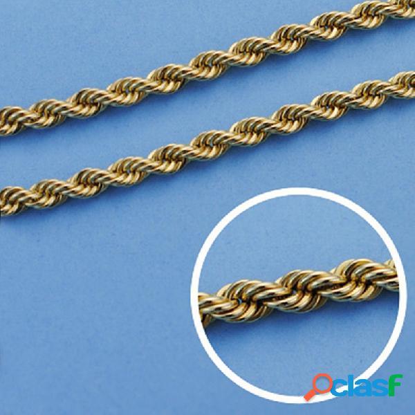 Cordón cadena oro 18k salomónico 45cm. normal 4mm.