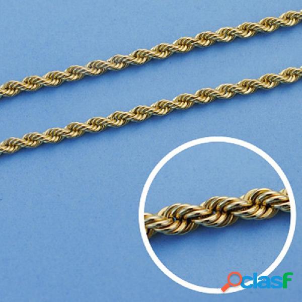 Cordón cadena oro 18k salomónico 60cm. 8mm.
