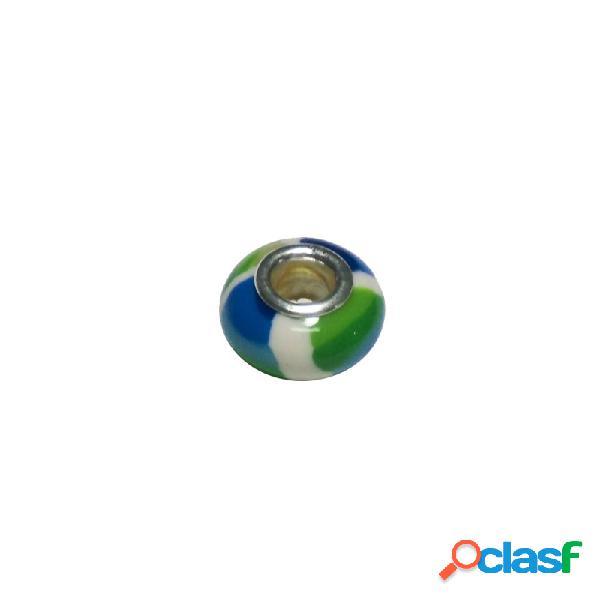 Colgante plata ley 925m abalorio esmalte colores pulseras